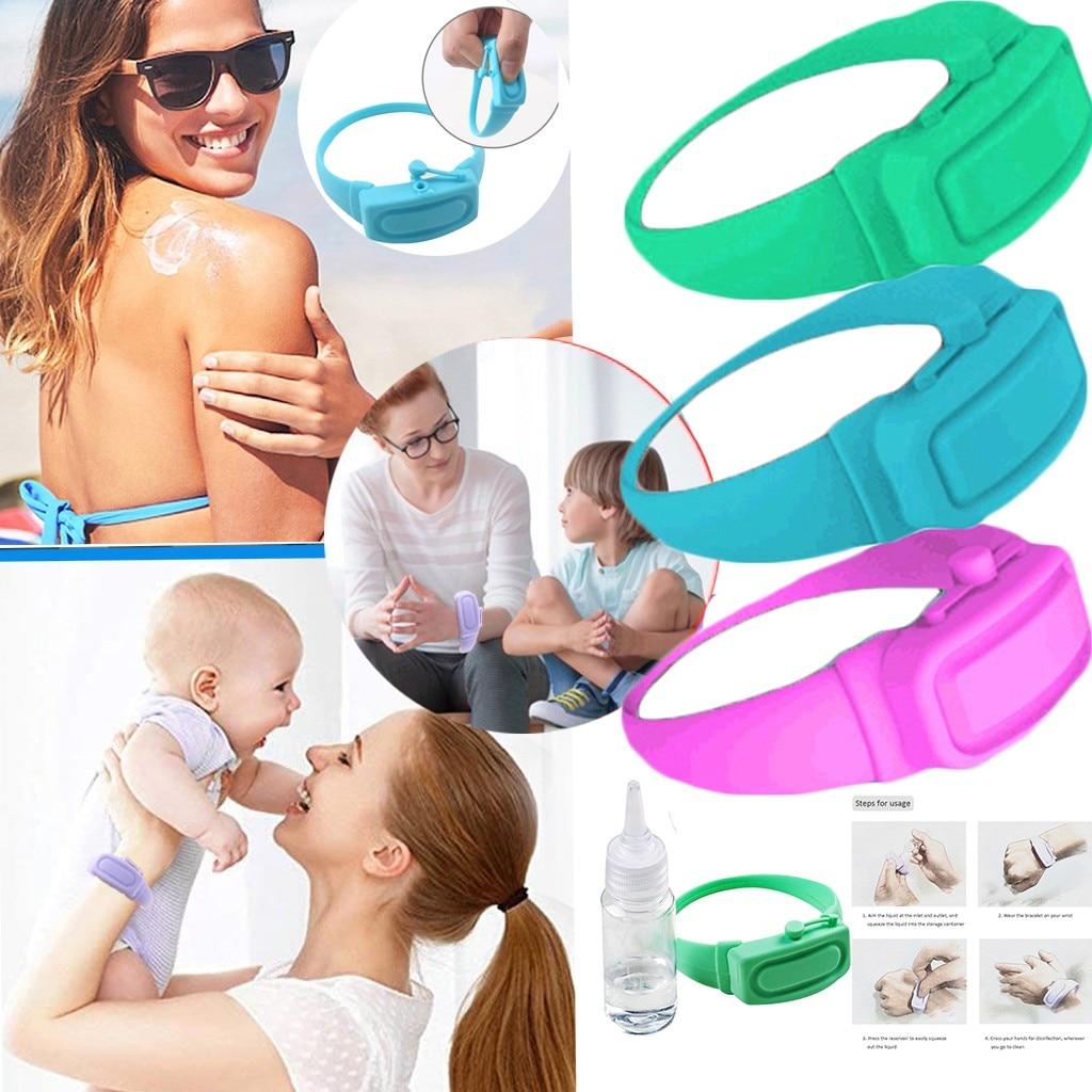 3 pçs adulto criança dispensador de mão líquido pulseira pulseira de pulso gel sem todo desinfetante mão desinfetante dispensação handwash novo