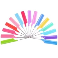 3 pcs hairdressing steel tip tail durable comb plastic needle tip tail comb comfortable handle heat resistant
