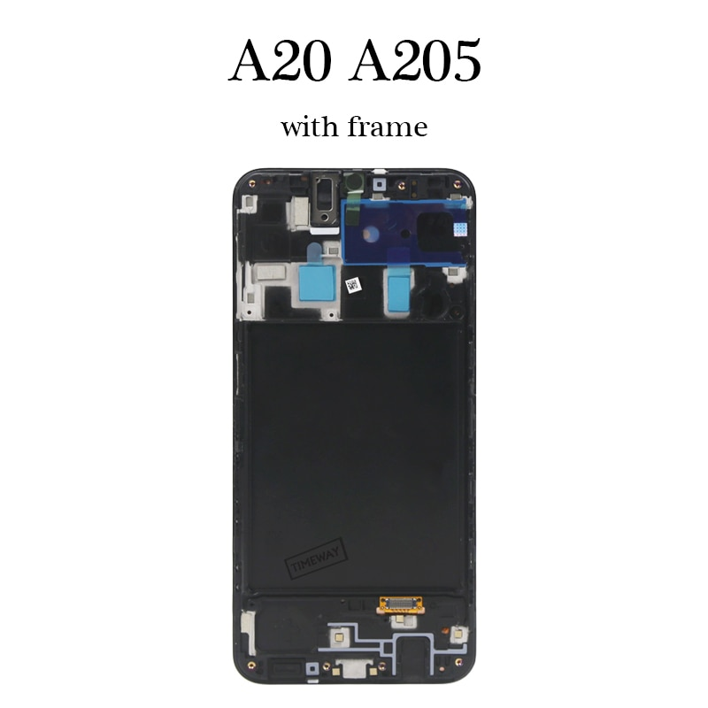 5.6'' For A20 A205 lcd display OEM quality good For mobile phone lcd screen replacement enlarge