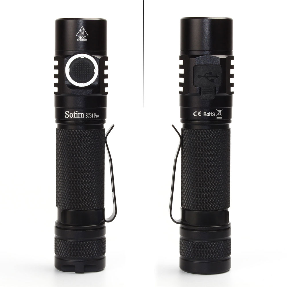 Sofirn New SC31 Pro SST40 2000lm LED Flashlight Rechargeable 18650 Flashlights USB C Powerful LED Torch Outdoor Lantern Anduril enlarge