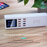 45w 8 ports usb charger quick charge 3 0 adapter hub wireless charger charging station pd fast charger for iphone 11 samsung