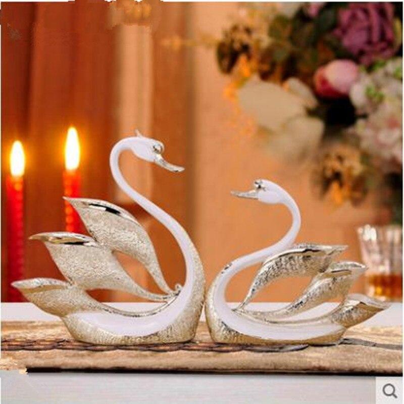 Presentes de Casamento Decoração de Mesa de Escritório em Casa Europeu-estilo Resina Cisne Artesanato Decorações Criativo Arte Animal
