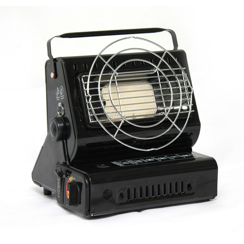 Dual Portable Outdoor Gas Heaters Portable Outdoor Warm Stove Camping Fishing Camping Tent Car Mounted Heaters Winter Warm