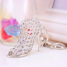 High Heel Shoes Keychain Fashion Hollow Out Purse Bag Buckle Handbag Pendant Key Holder For Car Keyr