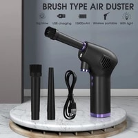 cordless air duster for computer laptop rechargeable car vacuum cleaner compressed air blower cleaning tool for keyboard sofa