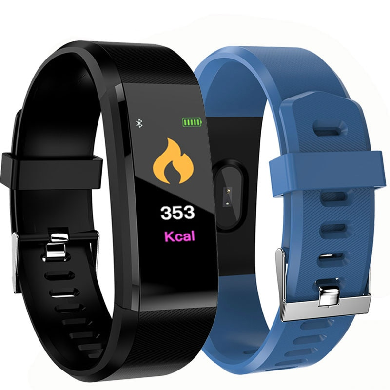 Couple watches 115 Plus Smart Wristband Blood Pressure Fitness Tracker Heart Rate Monitor Band Smart Activity Tracker Bracelet smart watch band heart rate oxygen blood pressure fitness tracker activity sport