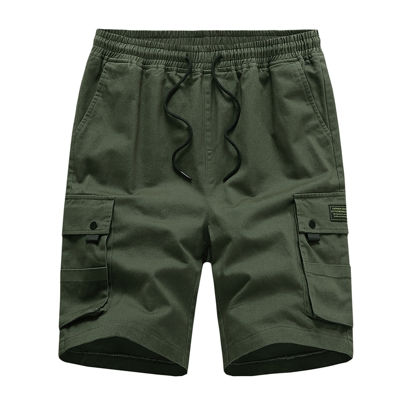 Cotton Shorts Men Casual Shorts Summer Shorts Solid Color Fashion Shorts Mens Pants Trousers Men Clothing Streetwear Men Loose
