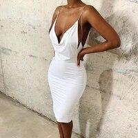 2021 summer fashion women spaghetti strap bodycon dress slim sexy party club slip dress sleeveless solid color dress