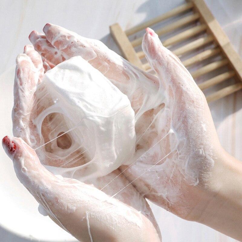 Goat Milk Soap Silk Protein Soap Remove Mites Tender White Handmade For Face Body Care