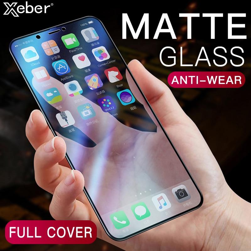 Cubierta completa mate 9D AG vidrio templado para iPhone XS 11 Pro MAX X XR Protector de pantalla antihuellas dactilares para iPhone 8 7 6S 6 Plus
