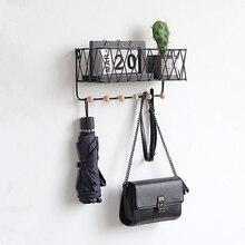 Étagère murale en fer grille murale   Étagère de rangement murale, étagère en bois pour décoration de la maison, ornements présentoir Succulents Pot à plantes bonsaï