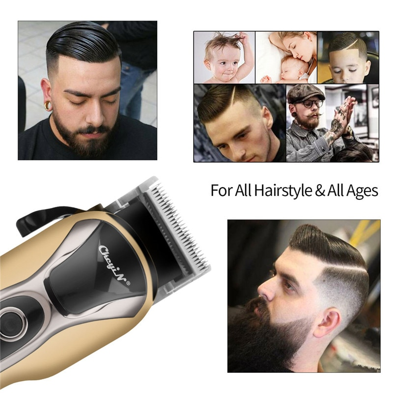 Professional Hair Clippers Barber Haircut Sculpture Cutter Rechargeable Razor Trimmer Adjustable Cordless Edge for Men enlarge