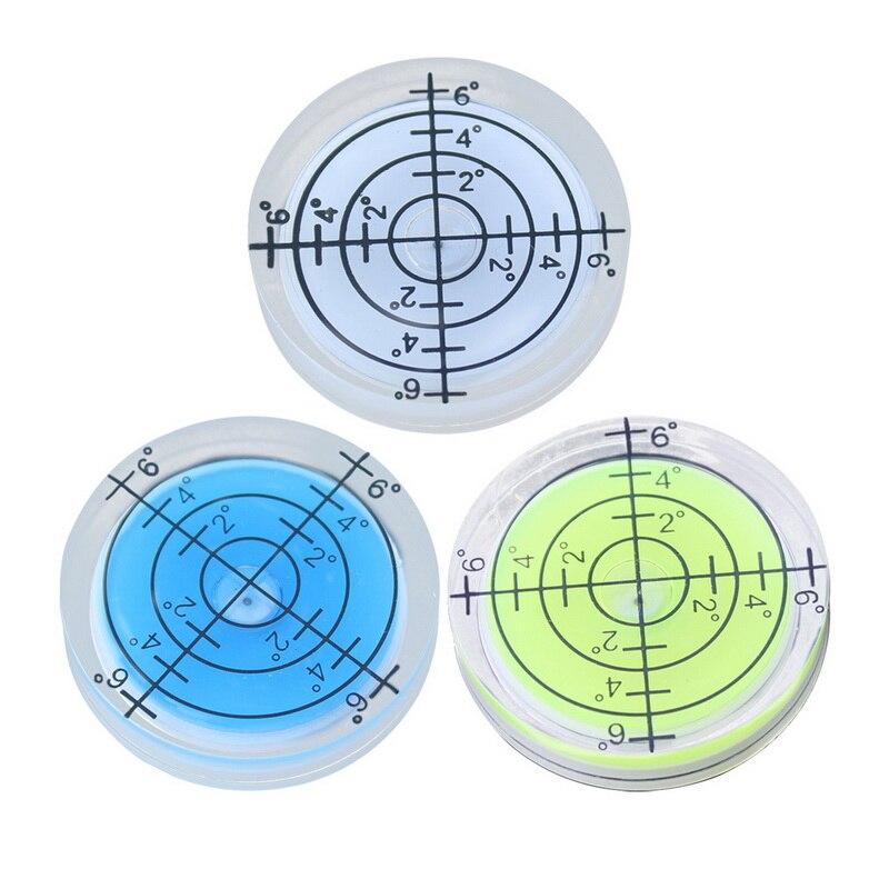 Junejour 1 Uds 32*7MM burbuja redonda nivel Cardan burbuja nivel accesorios para instrumento de medición Horizontal