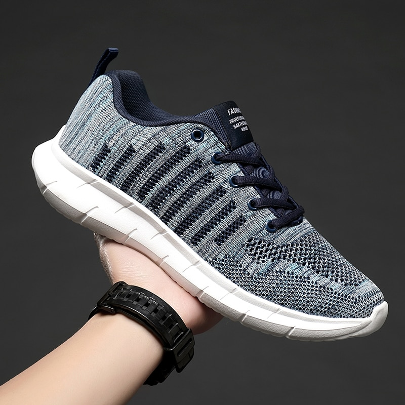 Breathable Mesh Sneakers Comfortable Men Casual Shoes Ultralight Sport Running Shoes Lace Up Walking Shoes Big Size Sneakers men running shoes retro trend sneakers breathable outdoor walking sport canvas shoes for male lace up casual shoes bubble