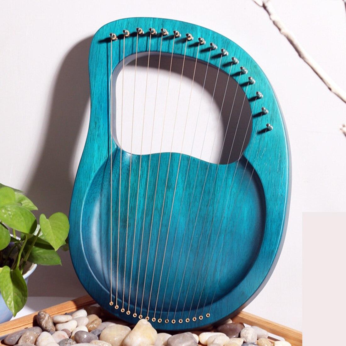 16 cuerdas Lire madera maciza ARPA de madera instrumentos musicales clásicos niños regalo de Navidad-Rosa/Burlywood/azul añil/Claret