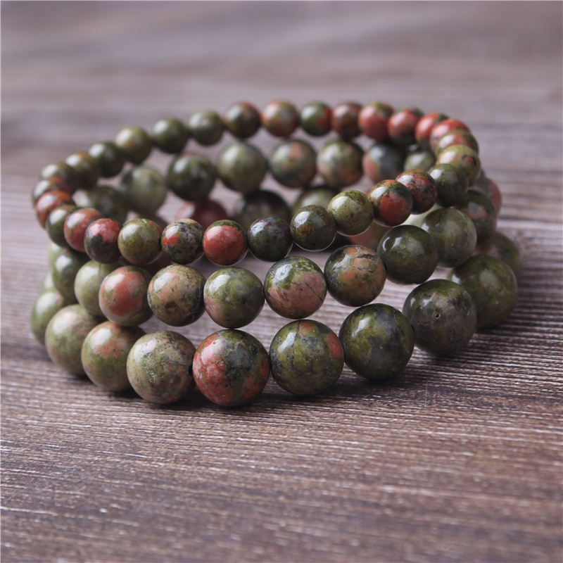 Lanli Quality Unakite Beads Natural Stone For Jewelry Making Round Shape Crystal DIY Necklace Bracelet 4/6/8/10/12mm
