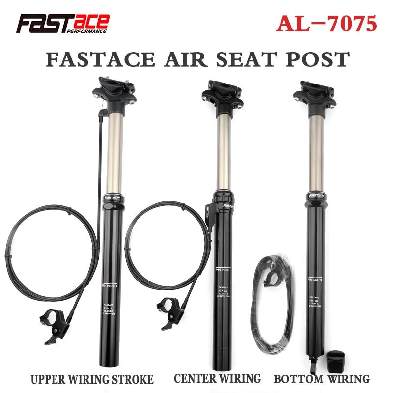 FASTACE ارتفاع قابل للتعديل Seatpost 30.9/31.6 مللي متر MTB بالقطارة 440 مللي متر الداخلية كابل التوجيه الخارجي عن رافعة 125 مللي متر السفر مقعد