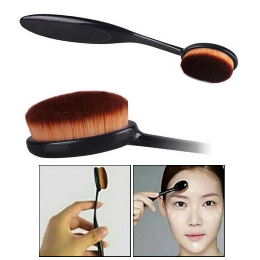 Pinceles de maquillaje ovalados de alta calidad, maquillaje cosmético, cepillo de dientes, colorete en polvo para rostro, cepillo de dientes, herramienta cosmética para maquillaje