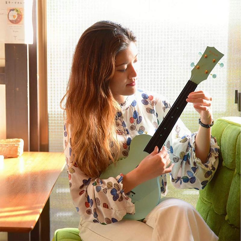 """Enya Concert Ukulele AcousticPlus Nova U/OR EQ 23"""" Cutaway Carbon Fiber Beginner Travel Ukulele Kit with Case, Strap, Capo enlarge"""