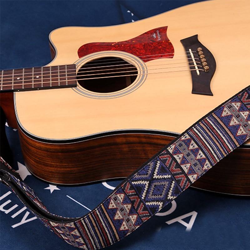 Embroidered Guitar Straps National Style Shoulder Strap Ribbon Musical Instrument Strap Guitar Part