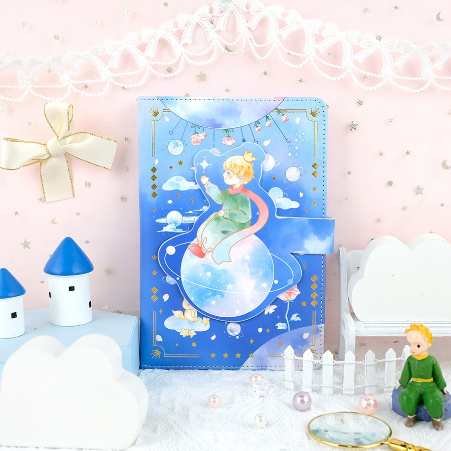 Dreaming Colors Theme Hello Little Prince Diary Book 112 Sheets Colorful Pages Children Girl Notebook Gift Free Shipping