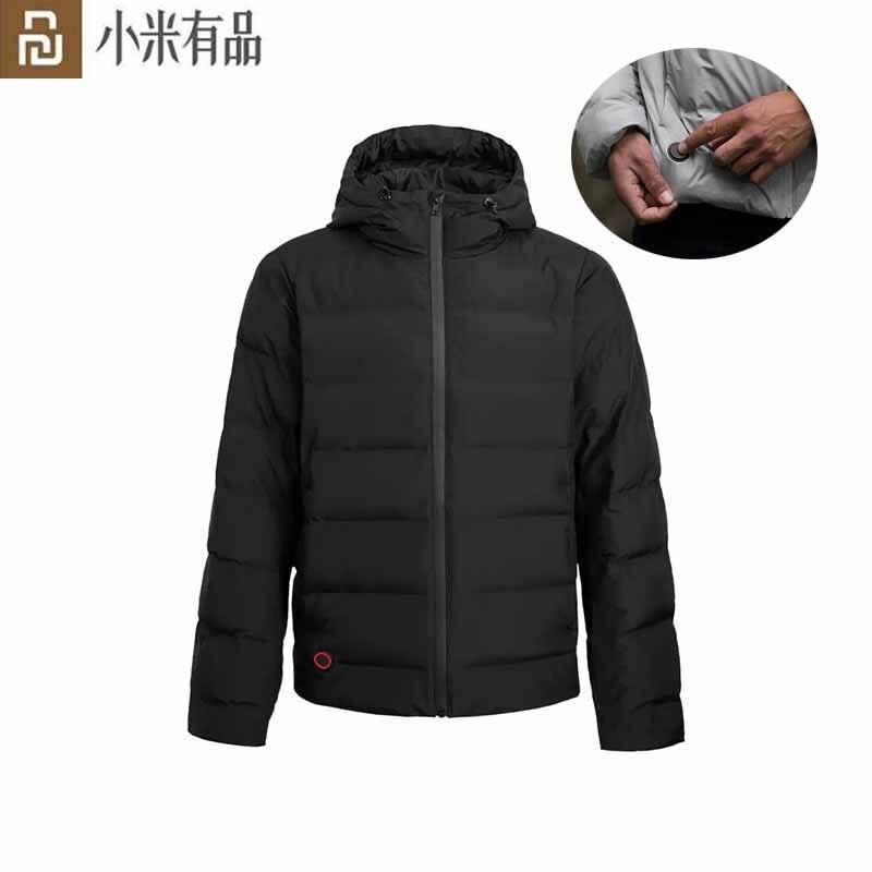 Cabolsas de Controle Temperatura de Carregamento Jaquetas à Prova Youpin Grafeno Down Jacket Cabolsas Aquecidos Usb Inverno Quente Doutágua Masculino Outwear