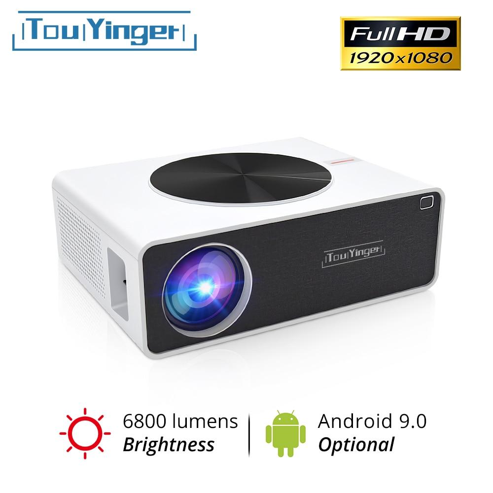TouYinger Q9 de cine en casa LCD video proyector Full HD 1080P 6800 lúmenes (Android 9,0 wifi Bluetooth opcional) película Beamer