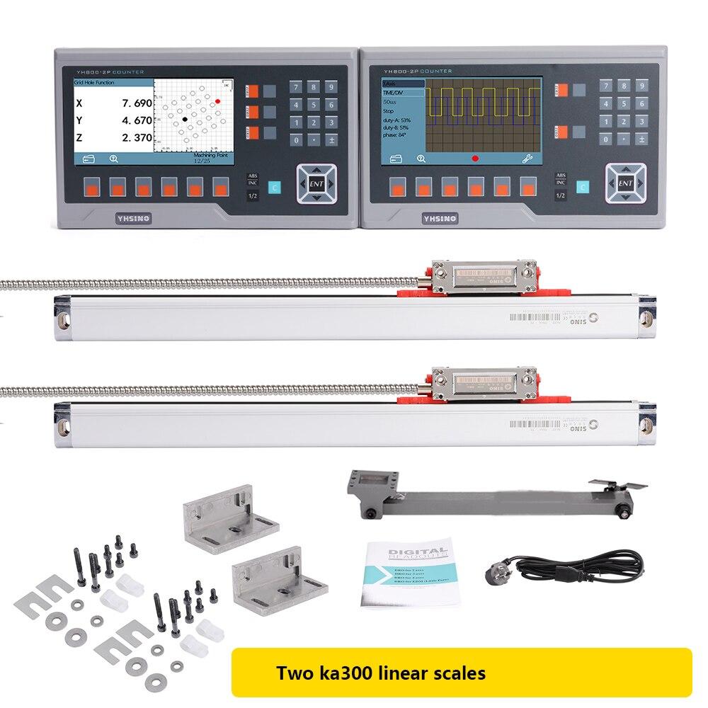 YH800-3P 3 محاور LCD قراءات رقمية و 3 SINOKA300 الترميز الخطي مقياس للمخارط وآلات الطحن