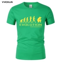 evolution of photographer personalized t shirt summer photography cotton t shirt short sleeve o neck tshirt for men plus size