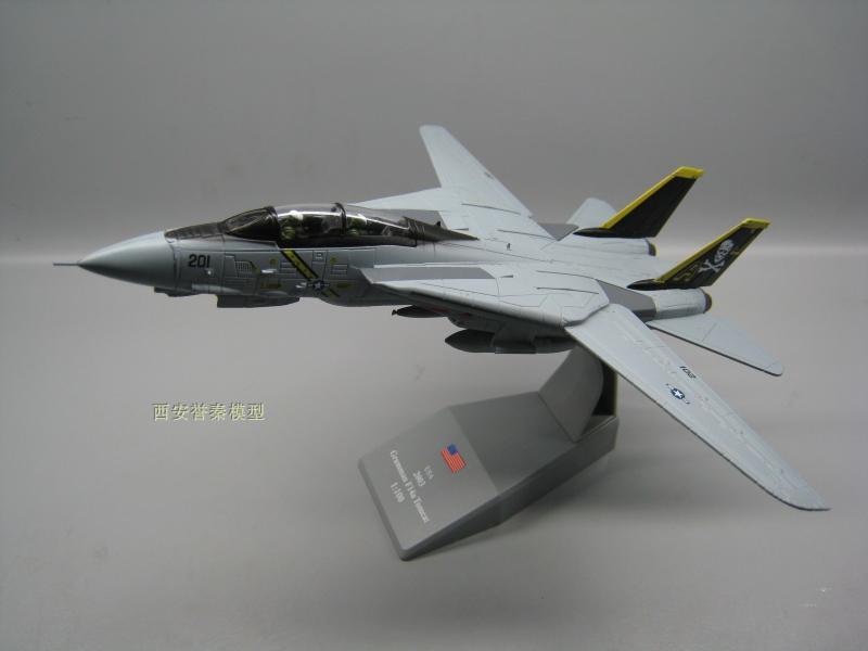 1/100 modelo militar brinquedos f14 tomcat F-14A/b aj200 VF-84 lutador diecast metal avião avião avião modelo de brinquedo para collectio