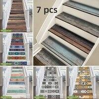 Funlife  Autocollant descalier en PVC  24 styles  autocollant impermeable auto-adhesif pour salle de bains cuisine  decor descalier