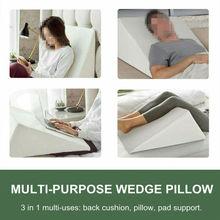 Oreiller à semelle compensée   Coussin de lit, Reflux acide, oreiller rehaussant les jambes, oreiller de lit