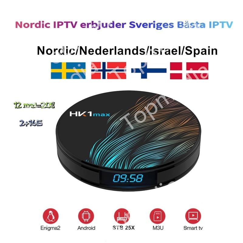 Iptv nórdico sueco escandinavo suizo Suiza Iptv Noruega Finlandia polaco Polonia Grecia Hk1max 2g 16g tv box