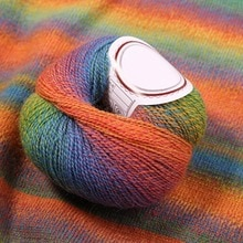 Boule de laine Pure arc-en-ciel   Gros, tricot coloré, fil artisanal pour la couture, tissu de pull, tricot à la main, automne hiver