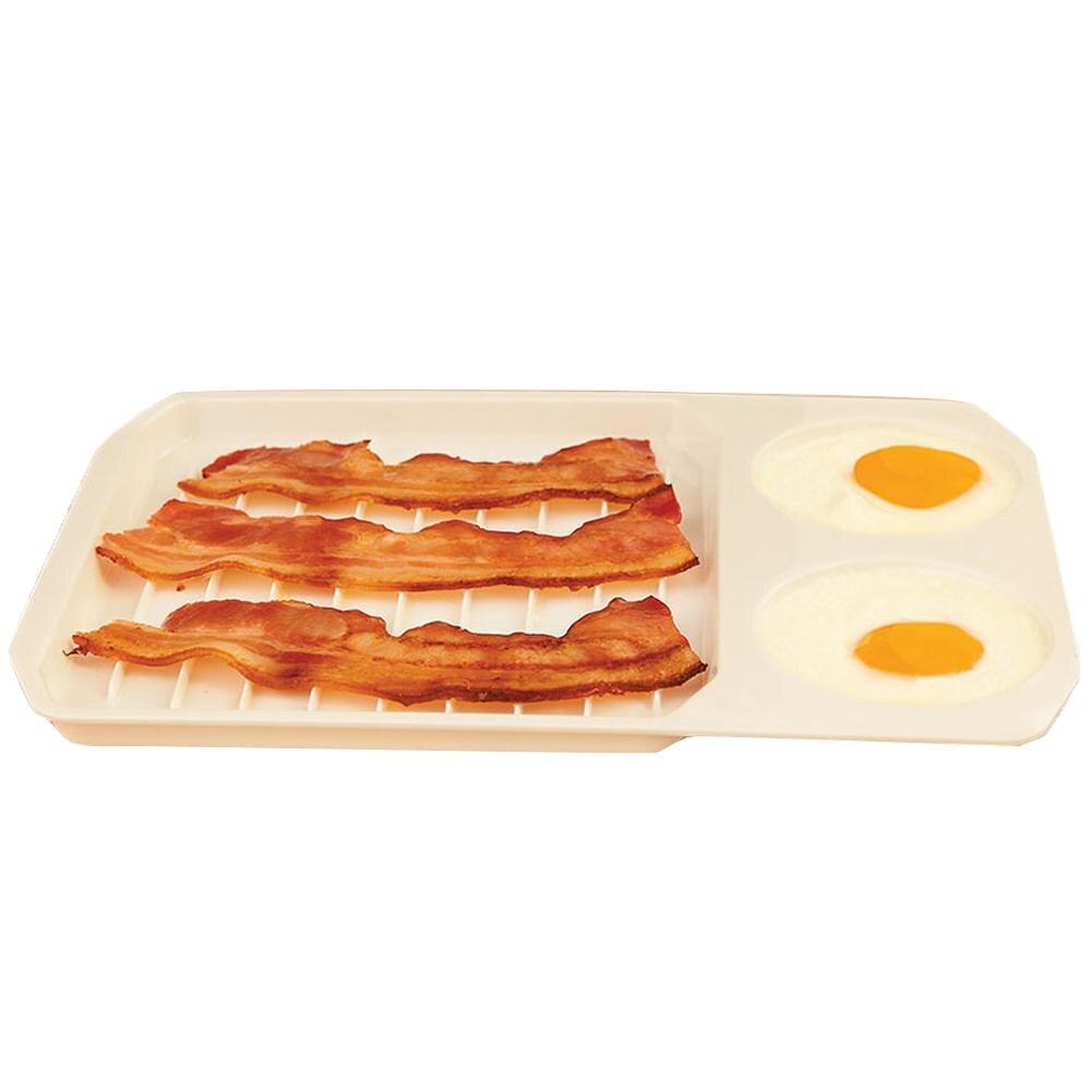 Studyset микроволновая печь прямоугольная пластиковая белая подставка для яиц поддон, кухонная утварь для завтрака