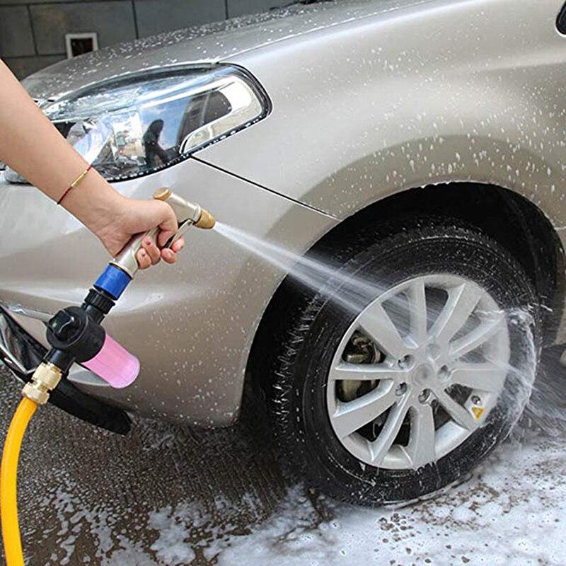 Lavadora de coche, olla de espuma, lanza de lavado de coches, limpieza de alta presión, pistola de espuma de lavado de coches, tipo de boquilla aplicable