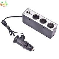 Универсальное 3-стороннее зарядное устройство с разъемом USB 11,5, 4,55x3,5 x разветвитель автомобильного прикуривателя см, 12 В/24 В постоянного тока...