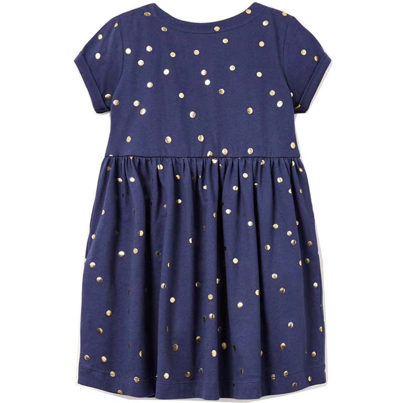 Kids Children Baby Girls Dresses Dot Print 2021 Summer Casual Party Princess Dresses Embroidered 100% Cotton Clothing New In