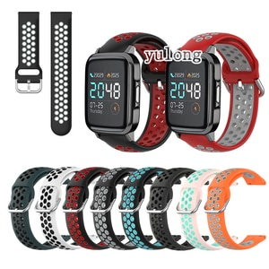 20mm 22mm Sport Silicone Breathable Strap For Haylou LS02 Smart Watch Wristband
