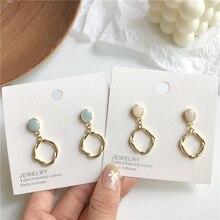 Mode coréenne torsion cercle Clip sur boucles doreilles pas percé irrégulier boucles doreilles breloques bulgarie bijoux pour les femmes