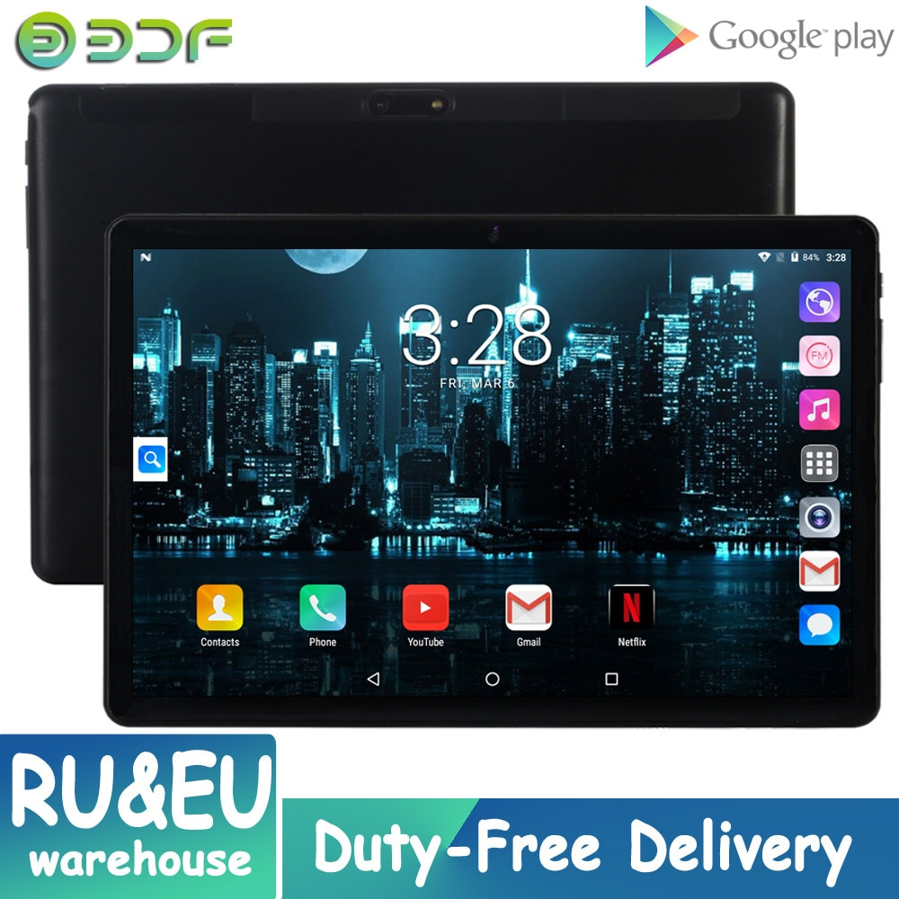 New Original 10.1 Inch Google Tablet Pc Android 7.0 GPS Bluetooth WiFi Tablets 3G Dual Cards 2.5D Glass Tablet 3G Phone Call