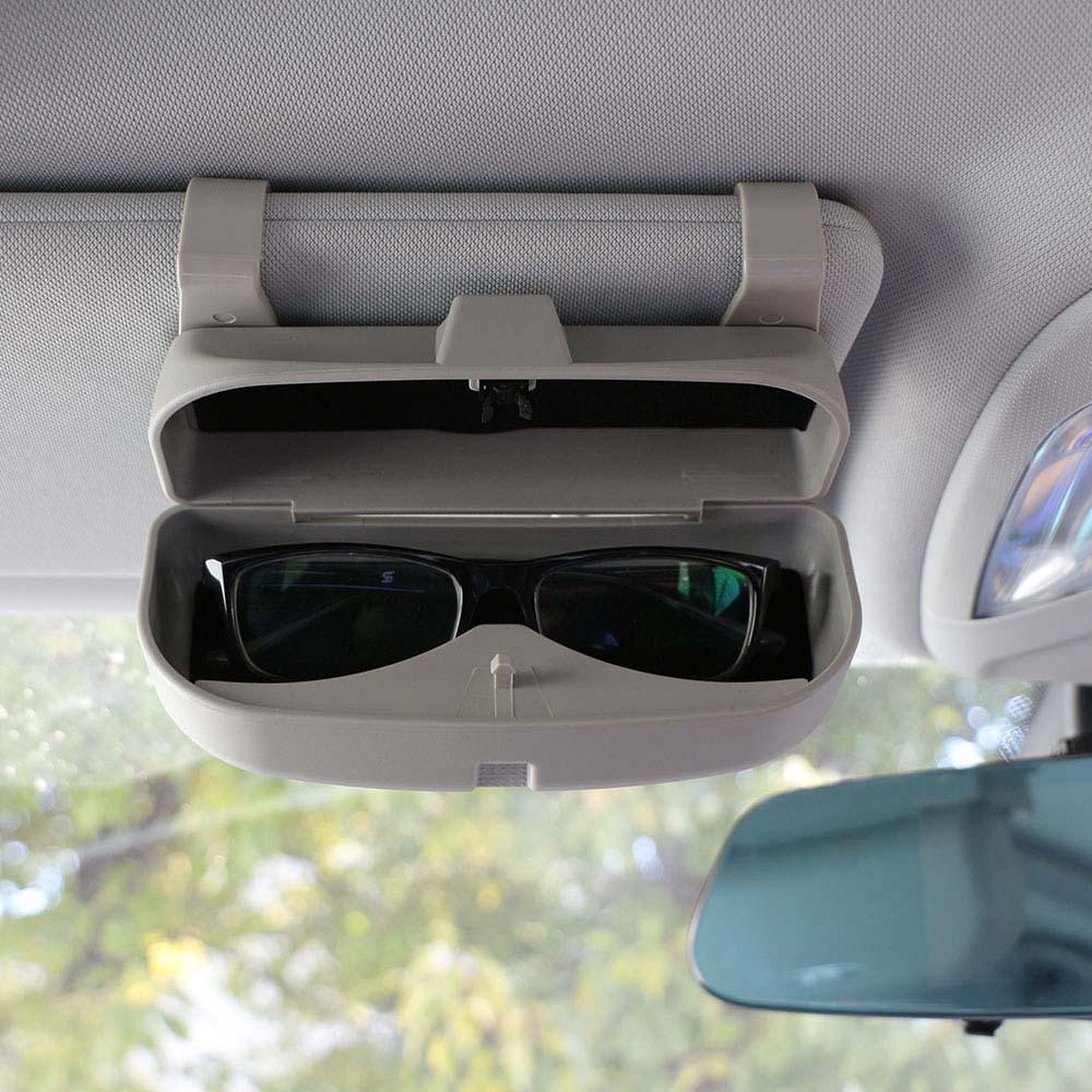 Daefar gafas caja organizador gafas de sol soporte almacenamiento bolsillos para Ford Fiesta Ecosport Everest Mondeo Kuga Auto accesorio