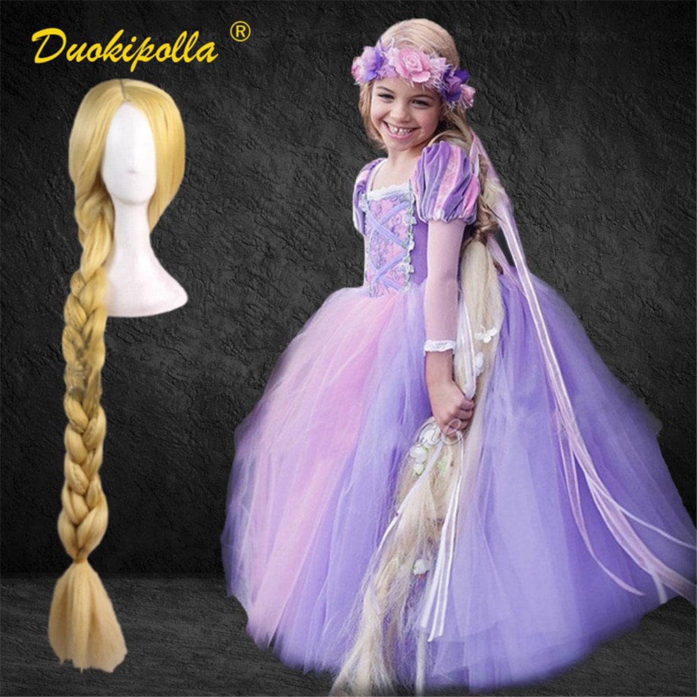 Vestido de Rapunzel para Halloween, disfraz Infantil de fantasía para Fiesta Infantil...