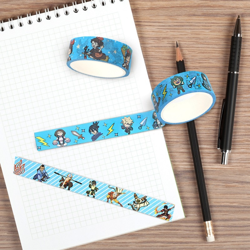 Anime mi héroe Academia servicio de entrega de Kiki Avatar adhesivo Washi cinta DIY Scrapbooking etiqueta engomada cinta adhesiva papelería