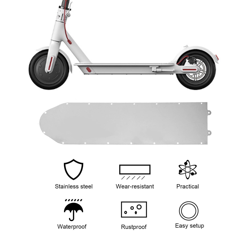 Chasis de patinete eléctrico, protección de acero inoxidable, placa protectora de Metal, armadura de batería, cubierta inferior para Xiaomi M365 Pro/Max G30