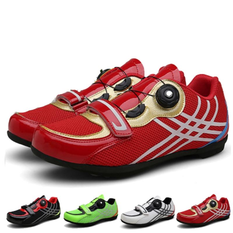 Zapatos de ciclismo de carretera para hombre, calzado deportivo profesional con autosujeción
