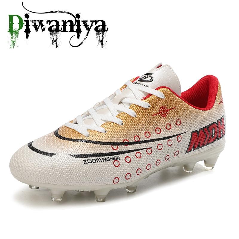 Men women kids soccer Breathable Chuteira Futebol High Quality Cheap Men Soccer Shoes Superfly Original TF Kids Football Boots