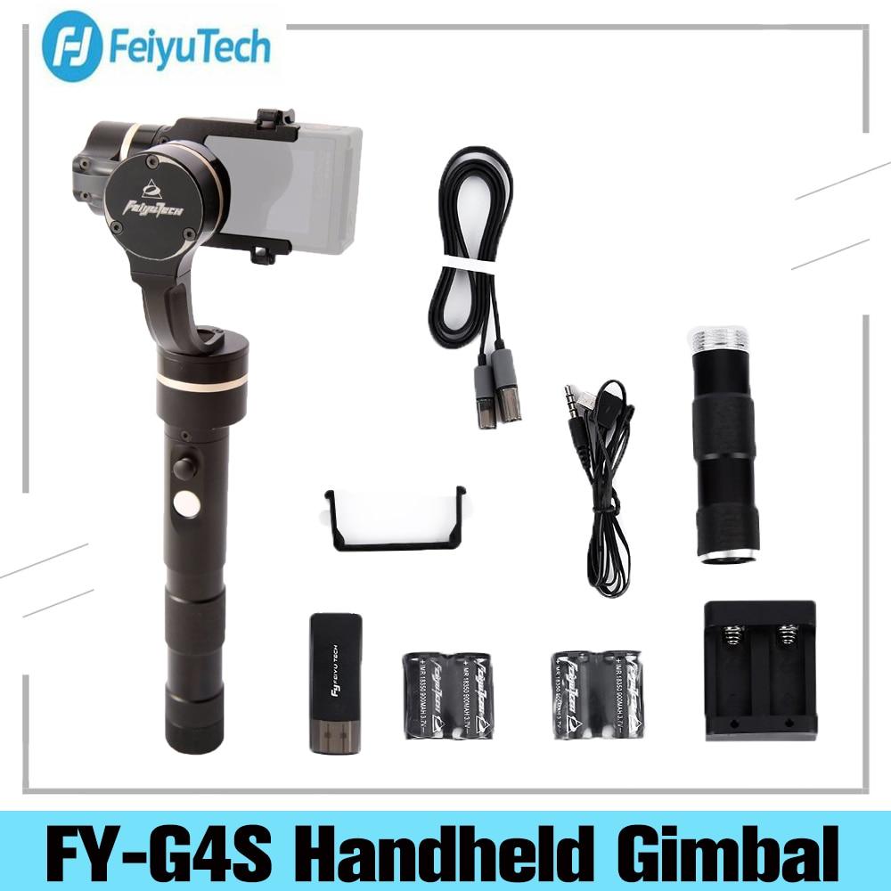 فييو FY-G4S 4 طرق 360 درجة تتحرك 3-المحور يده ثابت Gimbal مثبت ل GoPro بطل 3/3 +/4 فييو G4 تحديث النسخة