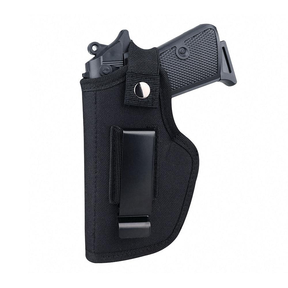 Universal Tactical Gun Holster Concealed Carry Holsters Belt Metal Clip IWB OWB Holster Airsoft Gun Bag for All Size Handguns