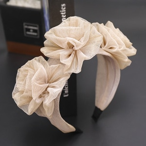 Korea Lace  Flower Crown Head Band Hair Accessories lovely Embroidery Headband for Grils Hair Band Hair Bow Princess 4